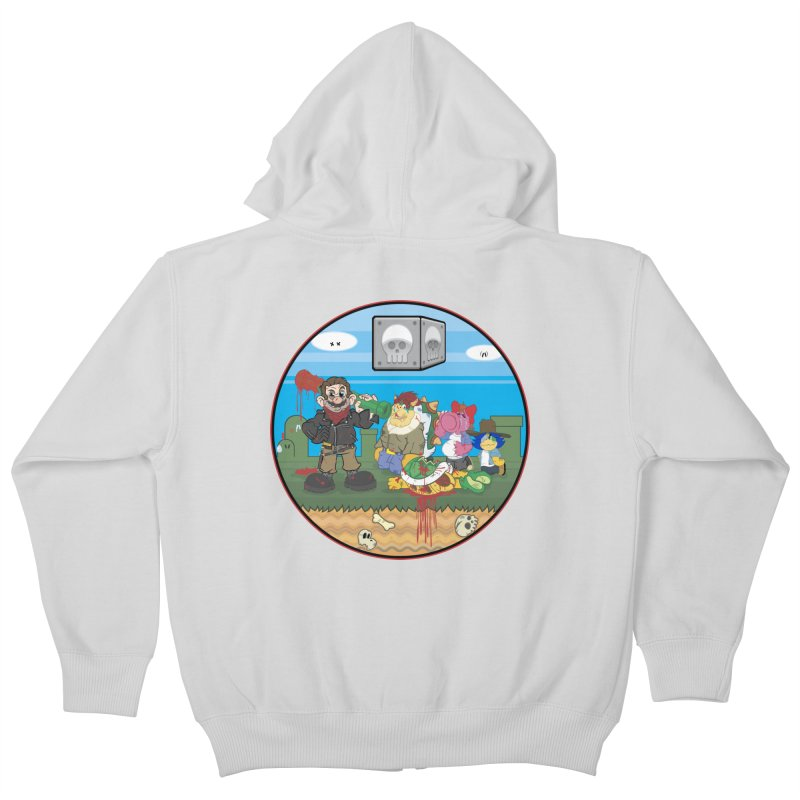 MARIO IS DEAD Kids Zip-Up Hoody by illustrativecelo's Artist Shop