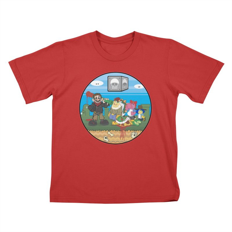 MARIO IS DEAD Kids T-Shirt by illustrativecelo's Artist Shop