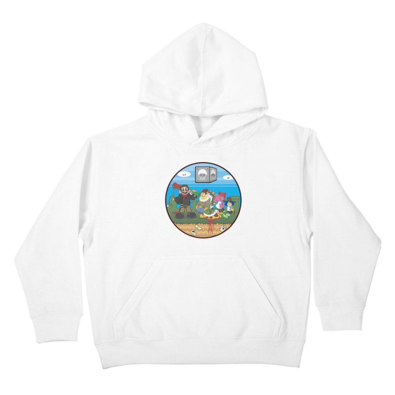 MARIO IS DEAD Kids Pullover Hoody by illustrativecelo's Artist Shop
