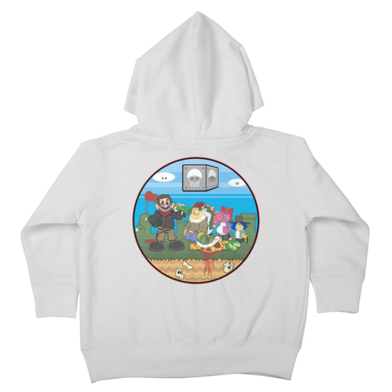 MARIO IS DEAD Kids Toddler Zip-Up Hoody by illustrativecelo's Artist Shop
