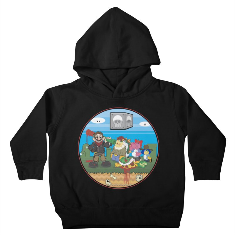 MARIO IS DEAD Kids Toddler Pullover Hoody by illustrativecelo's Artist Shop