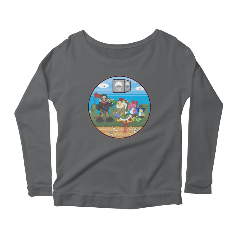 MARIO IS DEAD Women's Longsleeve Scoopneck  by illustrativecelo's Artist Shop