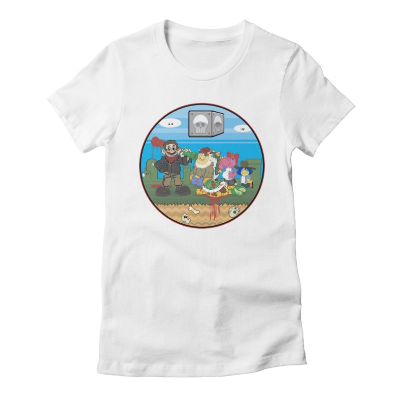 MARIO IS DEAD Women's Fitted T-Shirt by illustrativecelo's Artist Shop
