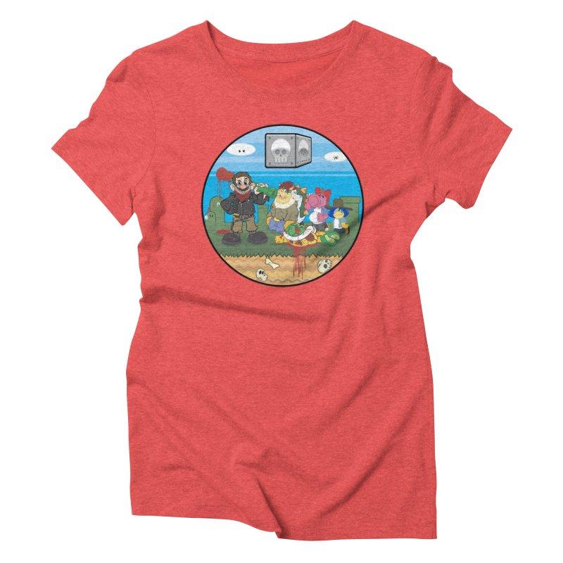 MARIO IS DEAD Women's Triblend T-Shirt by illustrativecelo's Artist Shop