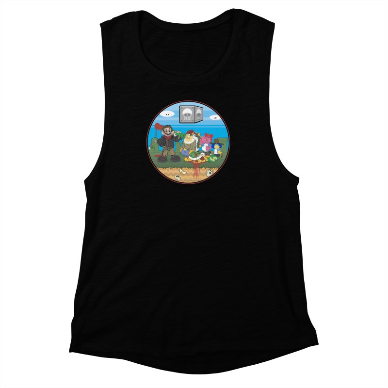 MARIO IS DEAD Women's Muscle Tank by illustrativecelo's Artist Shop