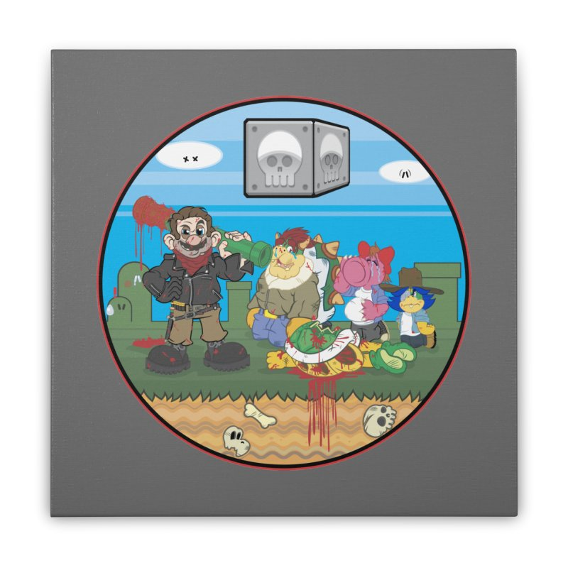 MARIO IS DEAD Home Stretched Canvas by illustrativecelo's Artist Shop