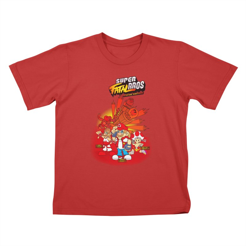 SUPER FATAL BROS Kids T-Shirt by illustrativecelo's Artist Shop