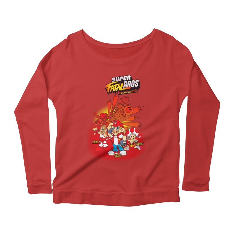 SUPER FATAL BROS Women's Longsleeve Scoopneck  by illustrativecelo's Artist Shop