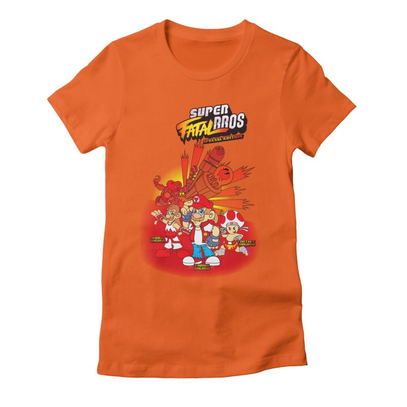 SUPER FATAL BROS Women's Fitted T-Shirt by illustrativecelo's Artist Shop