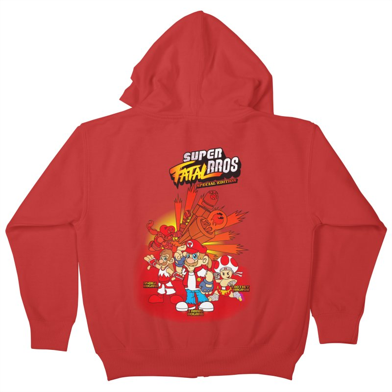 SUPER FATAL BROS Kids Zip-Up Hoody by illustrativecelo's Artist Shop