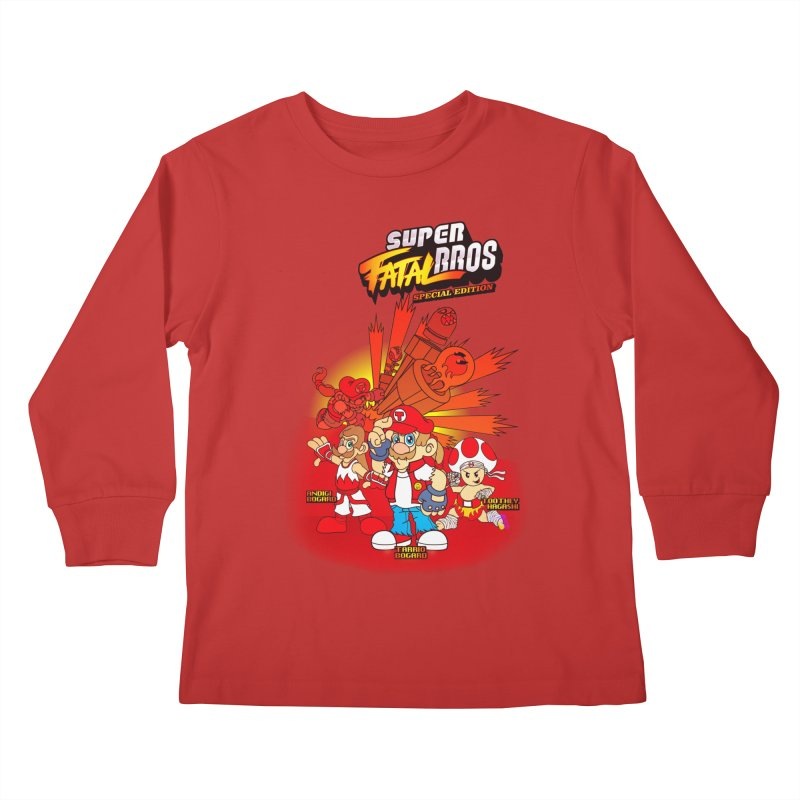 SUPER FATAL BROS Kids Longsleeve T-Shirt by illustrativecelo's Artist Shop