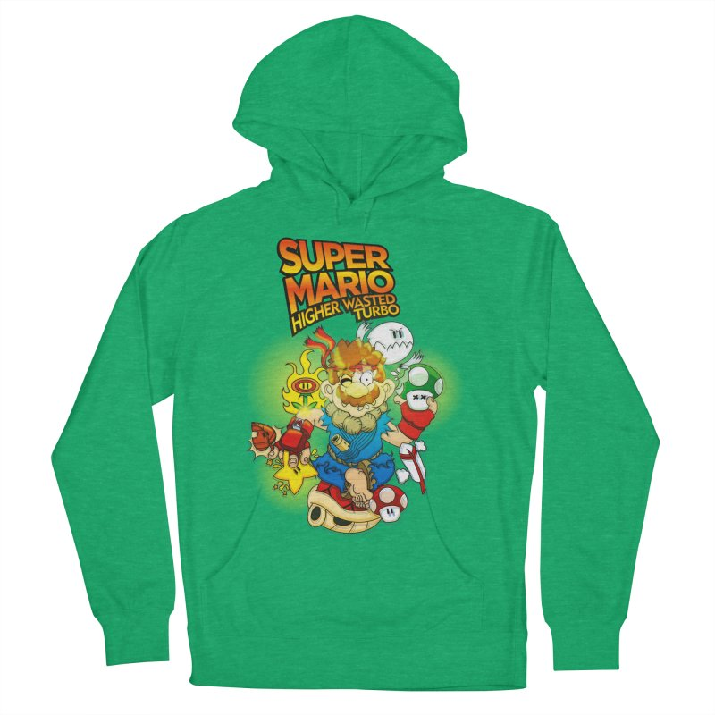 SUPER MARIO HIGHER WASTED TURBO Women's Pullover Hoody by illustrativecelo's Artist Shop