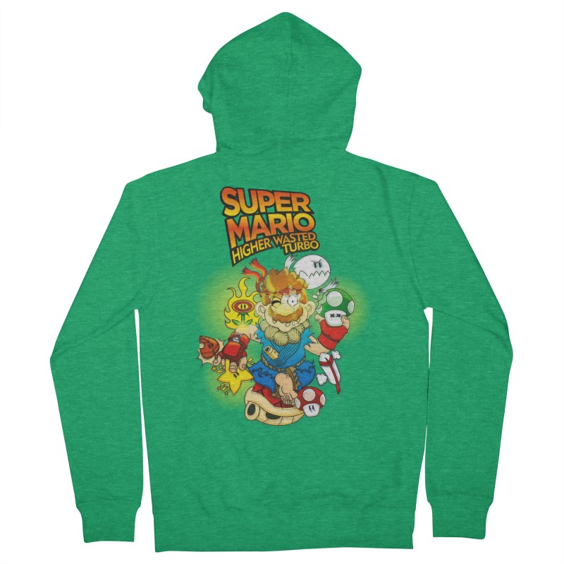 SUPER MARIO HIGHER WASTED TURBO Men's Zip-Up Hoody by illustrativecelo's Artist Shop