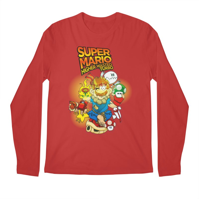 SUPER MARIO HIGHER WASTED TURBO Men's Longsleeve T-Shirt by illustrativecelo's Artist Shop