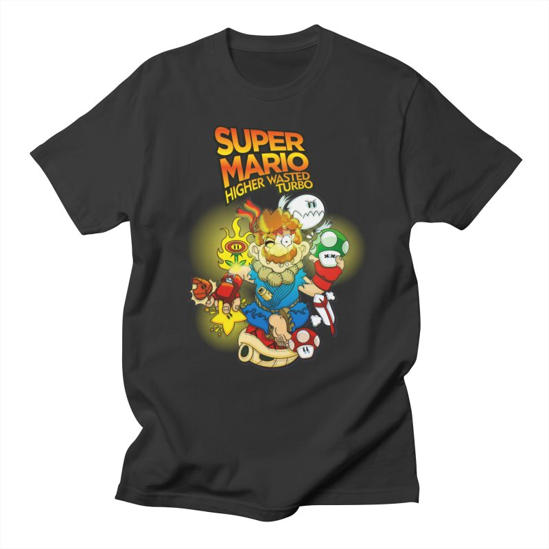 SUPER MARIO HIGHER WASTED TURBO Men's T-shirt by illustrativecelo's Artist Shop