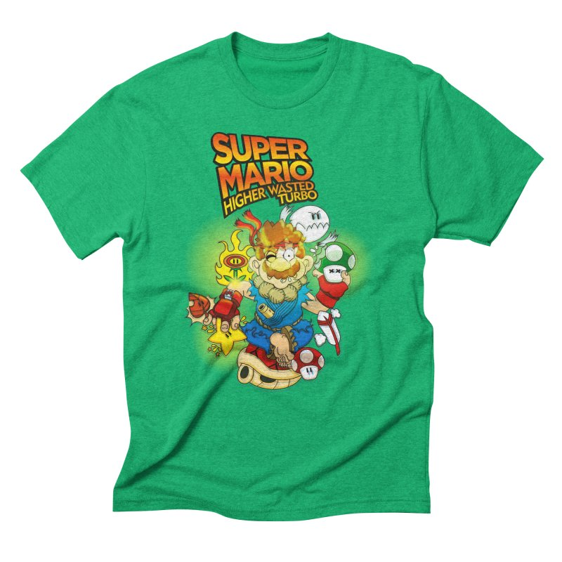 SUPER MARIO HIGHER WASTED TURBO Men's Triblend T-Shirt by illustrativecelo's Artist Shop