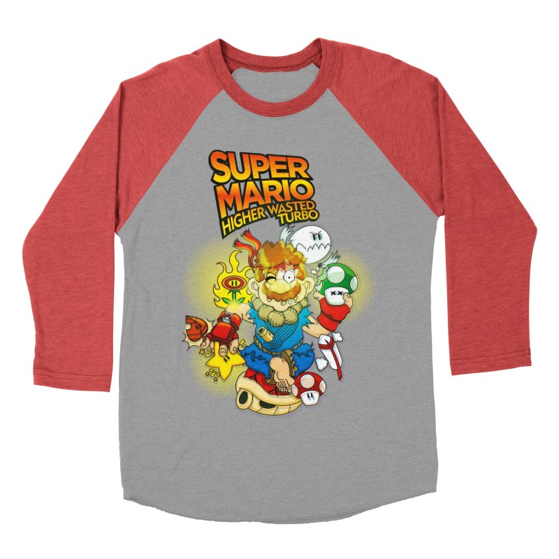 SUPER MARIO HIGHER WASTED TURBO Women's Baseball Triblend T-Shirt by illustrativecelo's Artist Shop