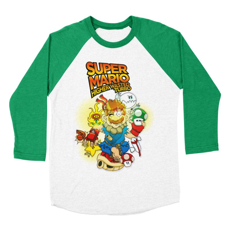 SUPER MARIO HIGHER WASTED TURBO Men's Baseball Triblend T-Shirt by illustrativecelo's Artist Shop