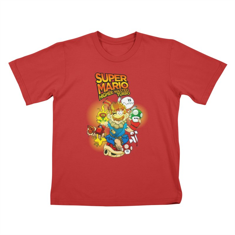 SUPER MARIO HIGHER WASTED TURBO Kids T-shirt by illustrativecelo's Artist Shop