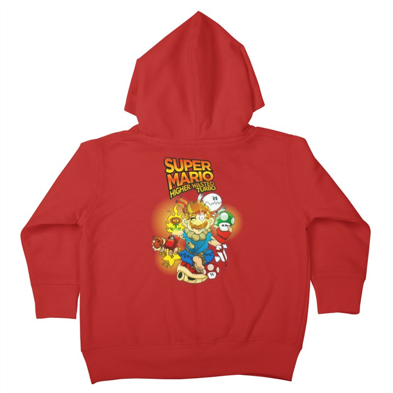 SUPER MARIO HIGHER WASTED TURBO Kids Toddler Zip-Up Hoody by illustrativecelo's Artist Shop