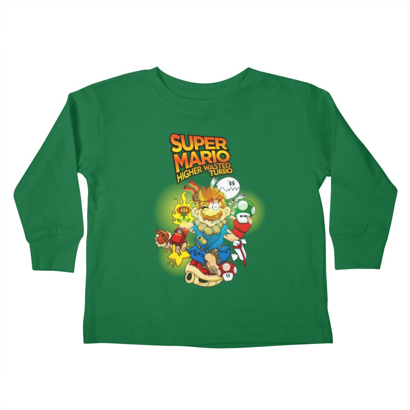 SUPER MARIO HIGHER WASTED TURBO Kids Toddler Longsleeve T-Shirt by illustrativecelo's Artist Shop