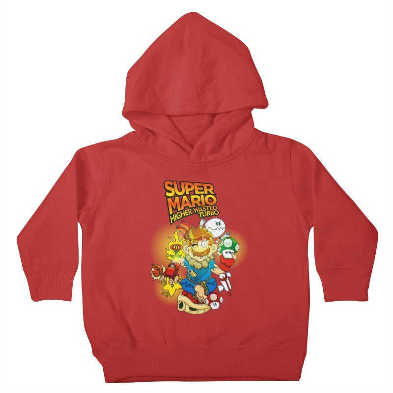 SUPER MARIO HIGHER WASTED TURBO Kids Toddler Pullover Hoody by illustrativecelo's Artist Shop