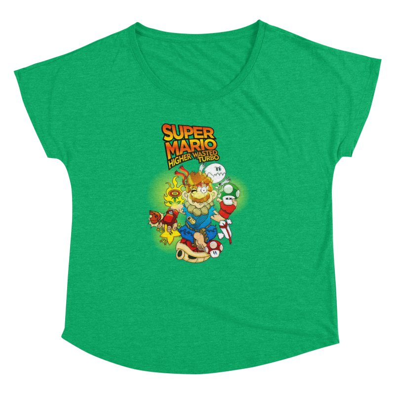SUPER MARIO HIGHER WASTED TURBO Women's Dolman by illustrativecelo's Artist Shop