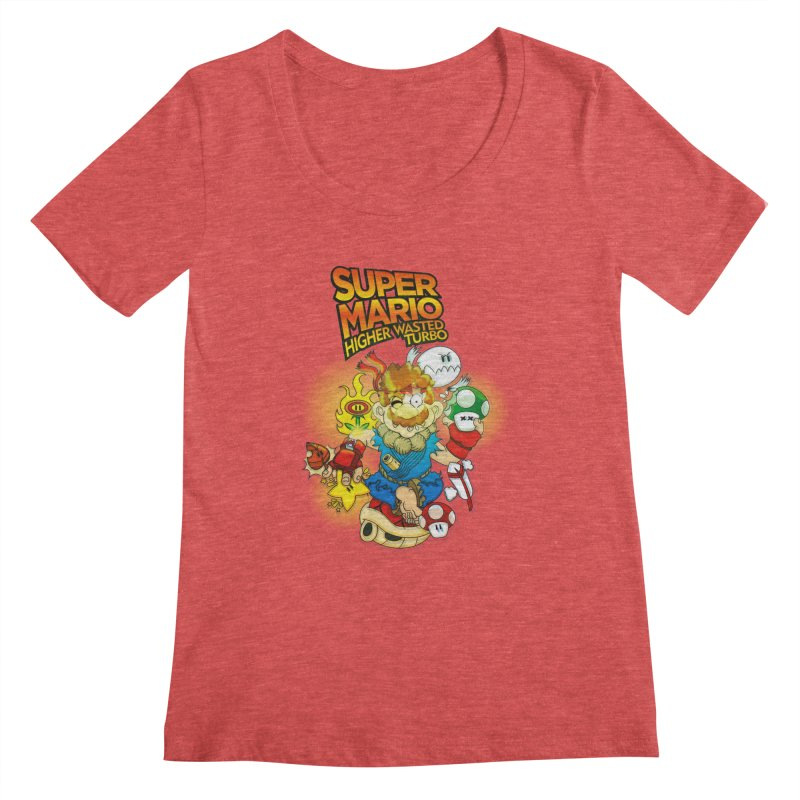 SUPER MARIO HIGHER WASTED TURBO Women's Scoopneck by illustrativecelo's Artist Shop