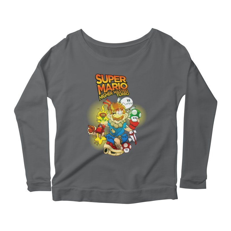 SUPER MARIO HIGHER WASTED TURBO Women's Longsleeve Scoopneck  by illustrativecelo's Artist Shop