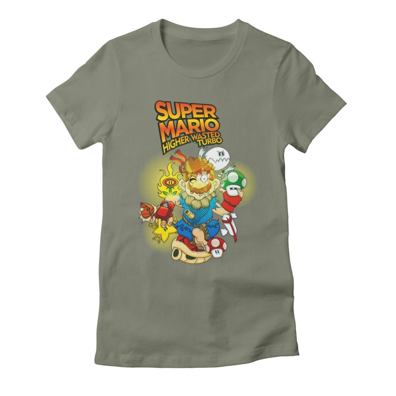 SUPER MARIO HIGHER WASTED TURBO Women's Fitted T-Shirt by illustrativecelo's Artist Shop