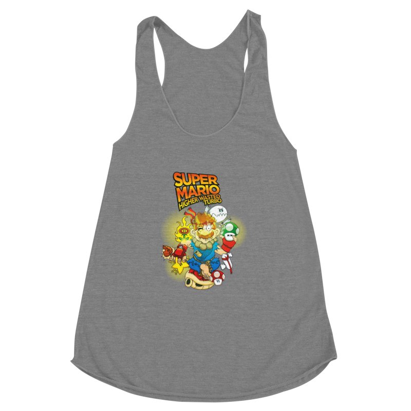 SUPER MARIO HIGHER WASTED TURBO Women's Racerback Triblend Tank by illustrativecelo's Artist Shop