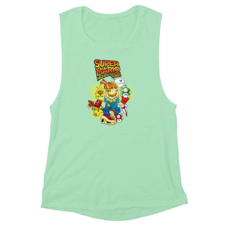 SUPER MARIO HIGHER WASTED TURBO Women's Muscle Tank by illustrativecelo's Artist Shop
