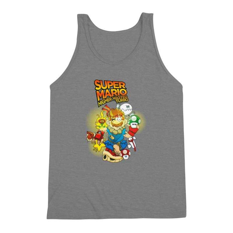 SUPER MARIO HIGHER WASTED TURBO Men's Triblend Tank by illustrativecelo's Artist Shop