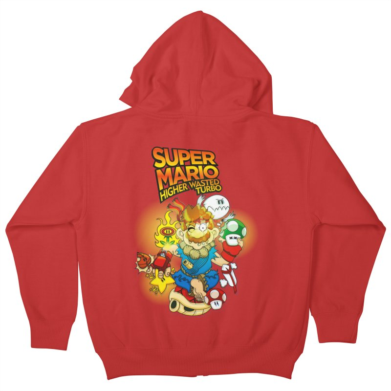 SUPER MARIO HIGHER WASTED TURBO Kids Zip-Up Hoody by illustrativecelo's Artist Shop