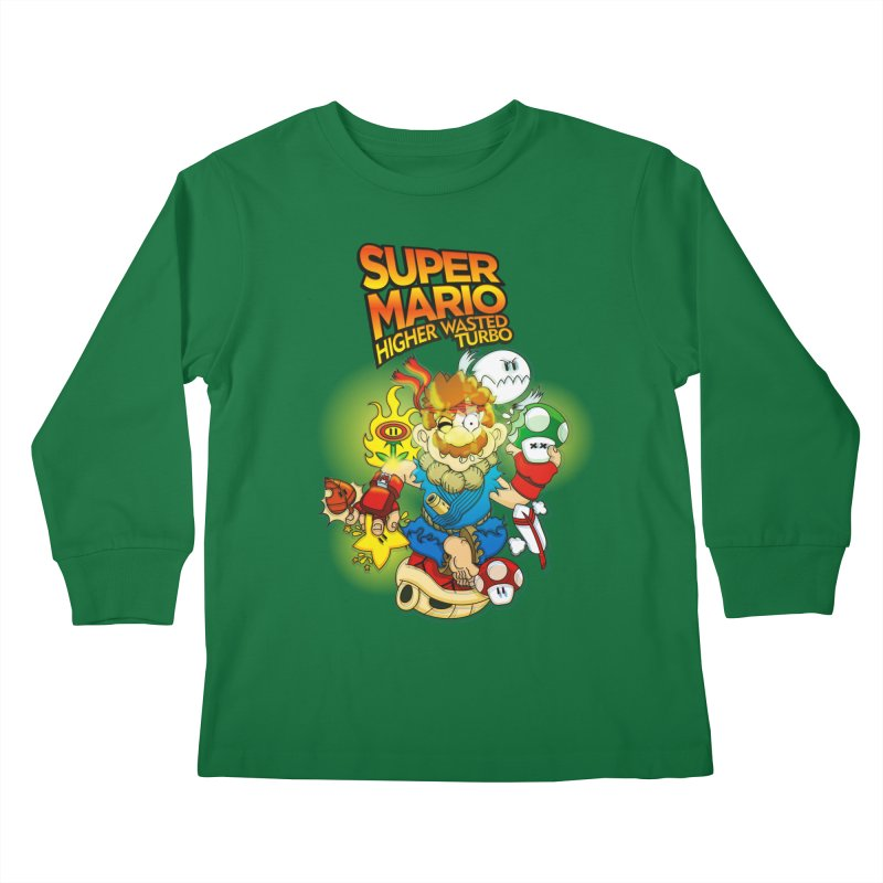 SUPER MARIO HIGHER WASTED TURBO Kids Longsleeve T-Shirt by illustrativecelo's Artist Shop