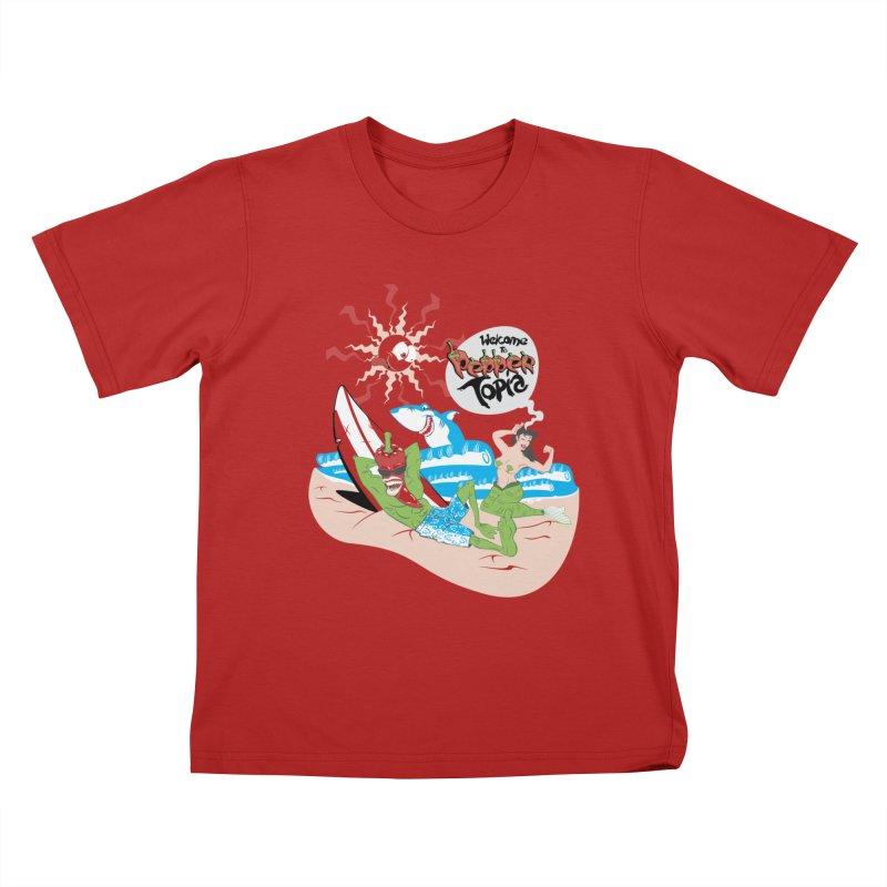 Peppertopia Kids T-shirt by illustrativecelo's Artist Shop