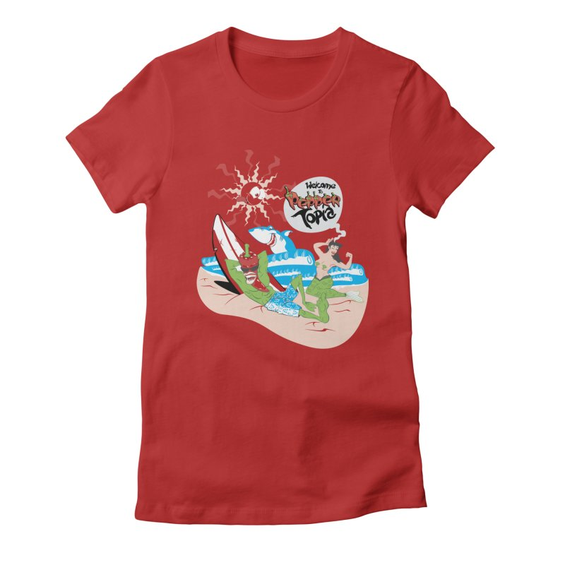 Peppertopia Women's Fitted T-Shirt by illustrativecelo's Artist Shop