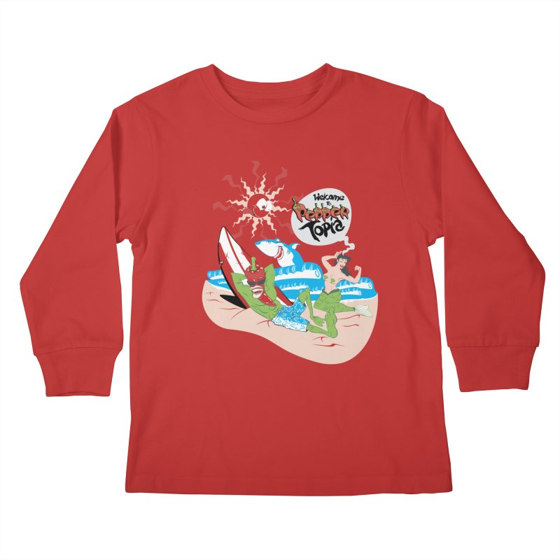 Peppertopia Kids Longsleeve T-Shirt by illustrativecelo's Artist Shop