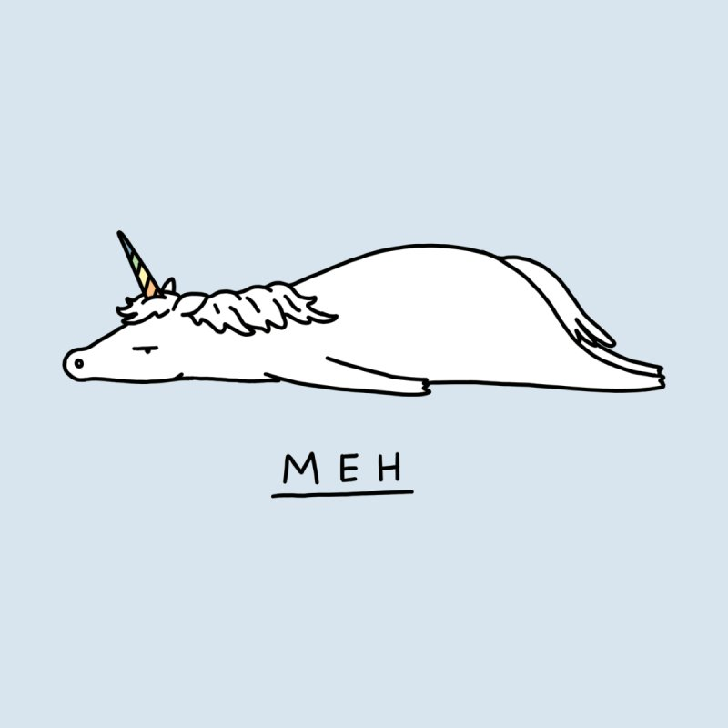Meh Unicorn Accessories Magnet by ilovedoodle's Artist Shop