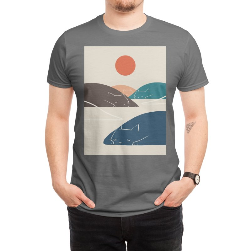 Cat Landscape art 1 Men's T-Shirt by ilovedoodle's Artist Shop