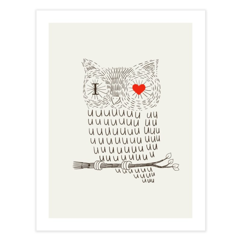 I Love Uuuuuuuu in Fine Art Print by ilovedoodle's Artist Shop