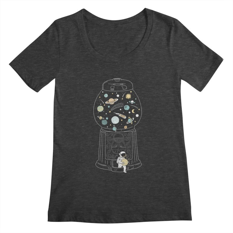 My Childhood Universe Women's Scoopneck by ilovedoodle's Artist Shop