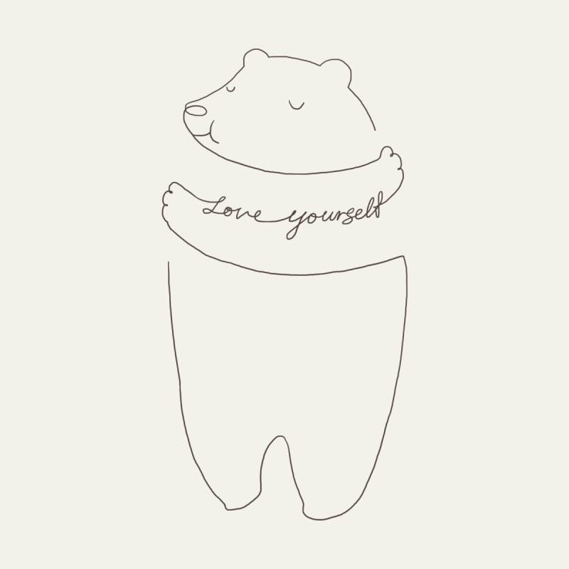 Love Yourself Bear   by ilovedoodle's Artist Shop
