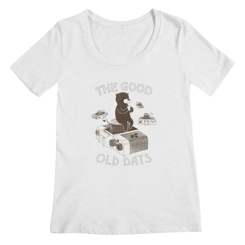 The Good Old Days Women's Scoopneck by ilovedoodle's Artist Shop