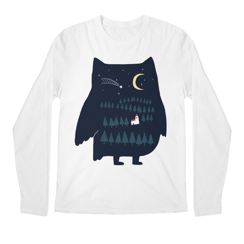 Night Owl Men's Longsleeve T-Shirt by ilovedoodle's Artist Shop