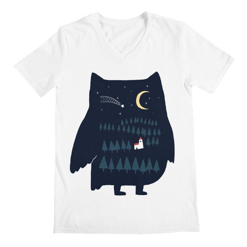 Night Owl Men's V-Neck by ilovedoodle's Artist Shop