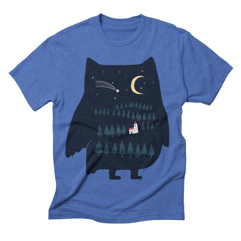 Night Owl Men's Triblend T-shirt by ilovedoodle's Artist Shop