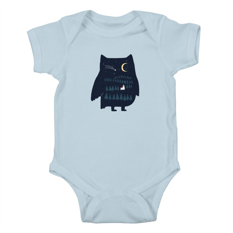Night Owl Kids Baby Bodysuit by ilovedoodle's Artist Shop