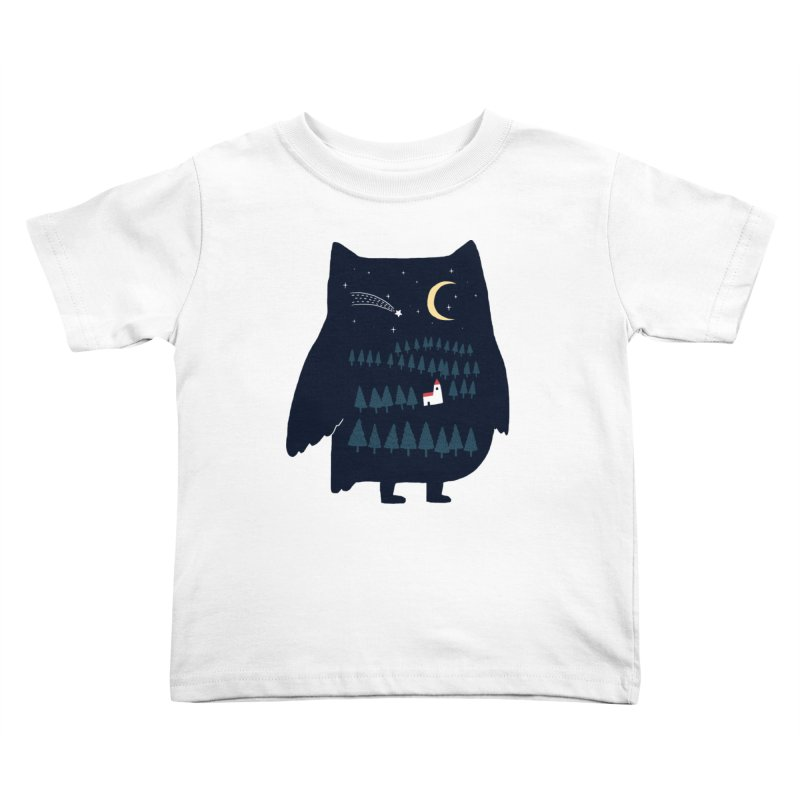 Night Owl Kids Toddler T-Shirt by ilovedoodle's Artist Shop