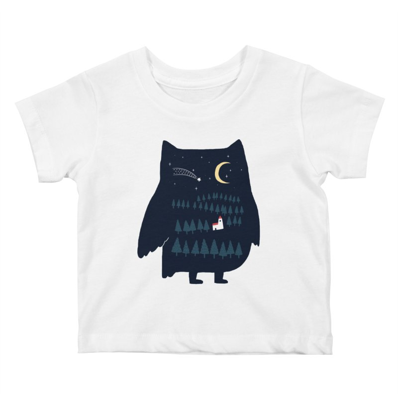 Night Owl Kids Baby T-Shirt by ilovedoodle's Artist Shop